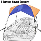 4 Person Inflatable Kayak Awning Canopy,Portable And Foldable for Boat and Camping Sun Shelter Fishing Tent Sun Shade Canopy?No Boat Included?