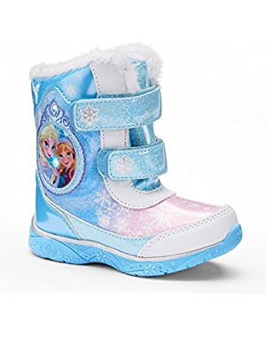Disney's Frozen Elsa & Anna Girls' Cold Weather Boots, Light Up
