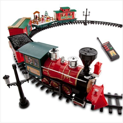 Disney Park 30 piece Christmas Train Set with Mickey, Goofy, Duffy, Chip and Dale (Christmas Disney Parks Train)