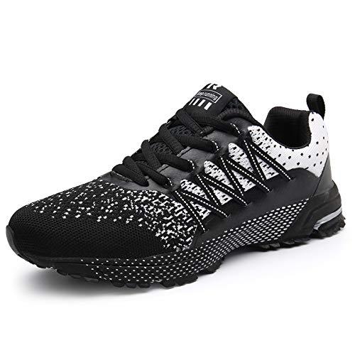 SOLLOMENSI Chaussures de Sport Running Basket Homme Femme Course Trail Entraînement Fitness Tennis Respirantes 1