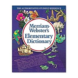Merriam Webster - Elementary Dictionary Grades 2-4 Hardcover 624 Pages \