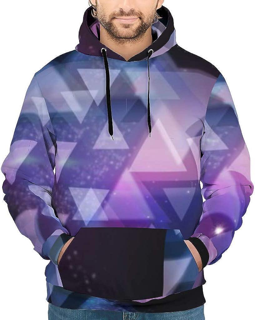 Drawstring Front Pocket Hoodie for Mens white7 2XL Landpowers Slim Fit Pullover Fleece Sweatshirt