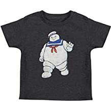 Ghostbusters Boys' Mr. Stay Puft Childrens T-Shirt Heather Navy