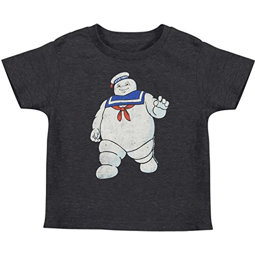 Ghostbuster T Shirts For Kids (Ghostbusters Little Boys' Mr. Stay Puft Childrens T-shirt 4T Heather Navy)