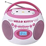 Best HELLO KITTY Cd Player With Speakers - Hello Kitty Portable Bluetooth Cd Boombox with AM/FM Review