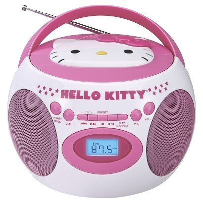 Hello Kitty Portable Bluetooth Cd Boombox with AM/FM Stereo Radio (Hello Kitty Stereo Radio Am Fm Cd)
