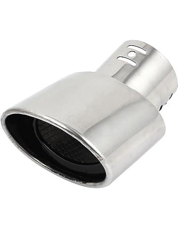 Sourcingmap 8,5cm Cola de Escape Coche Acero Inoxidable Tubo Silenciador para 207 307 308