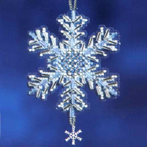 Ice Crystal Beaded Counted Cross Stitch Ornament Kit Mill Hill 2012 Snow Crystals MH162306