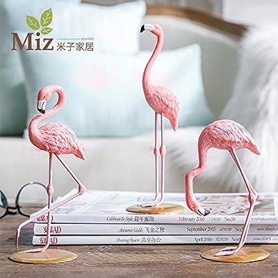 Miz 1 Piece Pink Flamingo Home Decoration Ornament Art Decor Figure
