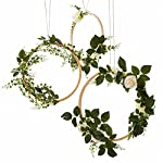 Lings-moment-Summer-Greenery-Wedding-Handcrafted-Vine-Wreaths-Set-of-6-Christmas-Decor-Rustic-Wedding-Backdrop-Artificial-Roses-Plant-Flower-Garland-Woodland-Wedding-Decoration-Floral-Hoop