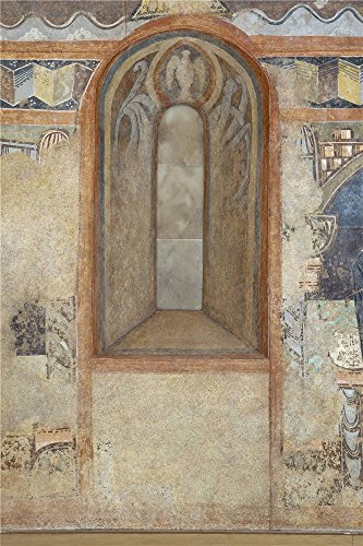 Polyster Canvas ,the Vivid Art Decorative Canvas Prints Of Oil Painting 'Anonymous 12 Century Window Soffit. The Hermitage Of The Vera Cruz De Maderuelo ', 18 X 27 Inch / 46 X 69 Cm Is Best For Garage Decoration And Home Artwork And Gifts