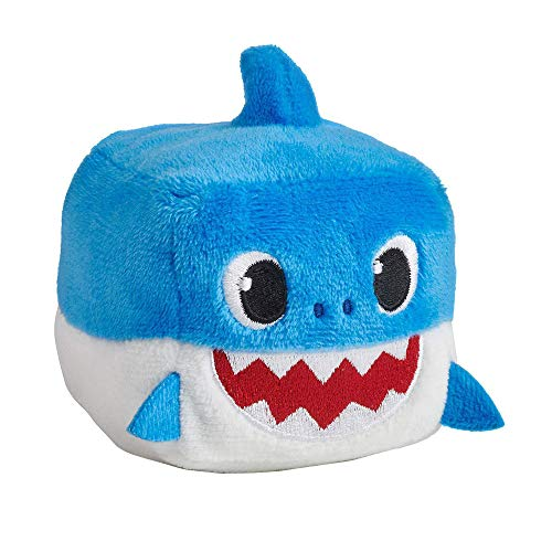 (QTIVY Baby Shark Singing Plush Toy Cute Singing Baby Shark Song Cube Stuffed Animal Doll Great Gift for Baby & Toddler (Blue))