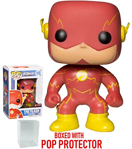 Funko Pop! DC Heroes: New 52 The Flash PX Exclusive Vinyl Figure (Bundled with Pop BOX PROTECTOR CASE)