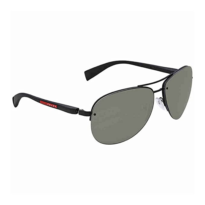 97c46b2f7d1fd Sunglasses Prada Linea Rossa PS 56 MS DG05X1 BLACK RUBBER  Amazon.ca   Clothing   Accessories