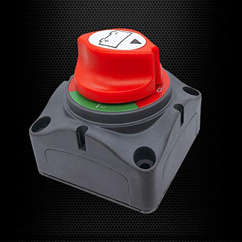 Vehicle Battery Switch RV and Boat 12-48V Battery Power Cut On/Off Master Switch Disconnect Isolator for Car