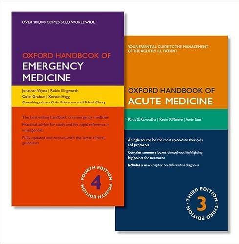 Pack of oxford handbook of emergency medicine and oxford handbook of pack of oxford handbook of emergency medicine and oxford handbook of acute medicine oxford handbooks 9th edition fandeluxe Gallery