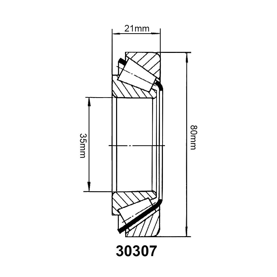 sourcing map 30302 de Rodamiento de Rodillos C/ónicos Cono Y Taza N/úcleo de 15mm Di/ámetro 42mm 13mm Grosor