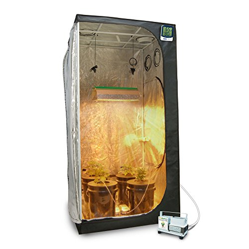"51hqJGSStaL - Complete 3 x 3 (39""x39""x79"") Grow Tent Package With 400-Watt HPS Grow Light + DWC Hydroponic System & Advanced Nutrients"