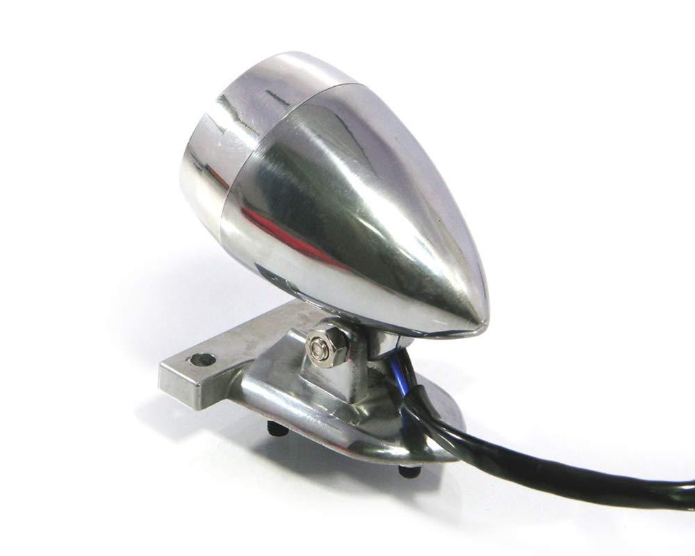 Motorrad LED Stop R/ücklicht Poliert f/ür Ma/ßgefertigt Retro Vintage Projekt