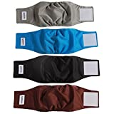 vecomfy Washable Belly Bands for Male Dogs(4 Pack),Premium Reusable Small Dog Wrap Leakproof Doggie Diapers, M