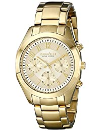 Bulova Caravelle New York Women's 44L118 Analog Display Japanese Quartz Yellow Watch