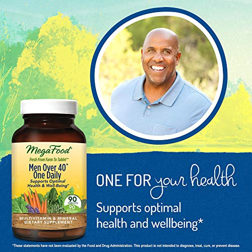 MegaFood - Men Over 40 One Daily, Multivitamin Support for Healthy Energy Levels, Prostate Function, Mood, and Bones with Zinc and B Vitamins, Vegetarian, Gluten-Free, Non-GMO, 90 Tablets (FFP) by MegaFood (Image #6)