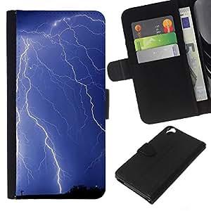 KLONGSHOP // Tirón de la caja Cartera de cuero con ranuras para tarjetas - Naturaleza Hermosa Forrest Verde 129 - HTC Desire 820 //