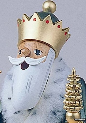 German Incense Smoker The 3 Wise Men - Balthasar - 22 cm / 8 inch - Authentic German Erzgebirge Smokers - KWO by Authentic German Erzgebirge Handcraft (Image #2)
