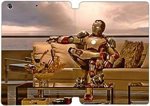 Cubierta de cuero y caja de la PC funda / soporte para funda de Apple iPad Mini 1,2,3 funda Con Magnetic reposo automático Función de despertador DIY por Ironman C6X8Og4N5Ly