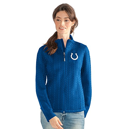 GIII For Her NFL Indianapolis Colts Women's Crossover Full Zip Jacket, Large, (Indianapolis Colts Jacket)