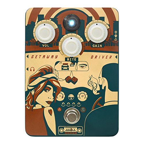 Orange Getaway Driver Overdrive '70s Amp-In-A-Box Pedal Driver Pedal