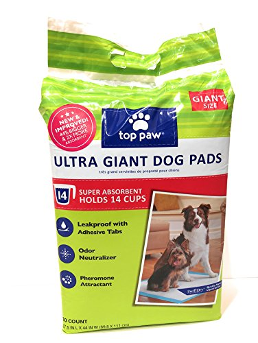 (TOP PAW Ultra Giant Dog Puppy Pads, 27.5