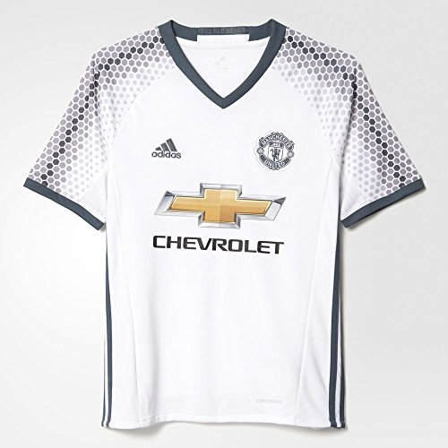 brand new cf977 1d230 Adidas Youth Manchester United Soccer Jersey White 3rd Kit - Import It All