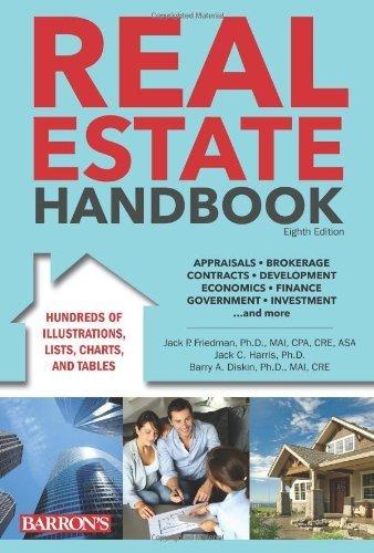 Real Estate Handbook (Barron's Real Estate Handbook) 8th edition by Friedman Ph.D. MAI CPA CRE, Jack P., Harris Ph.D., Jack (2013) Hardcover