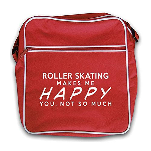 Retro Flight Red Roller Me Skating Makes Happy Bag 00qXIC