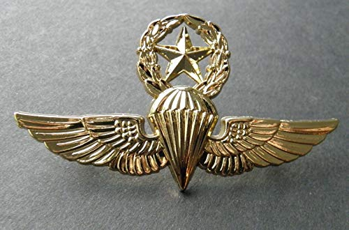 Handsome Enamel Lapel pins - USMC USN Paratrooper Master Jump Wings Lapel PIN Badge 2.75 INCHES para - Unique Pins and Brooches