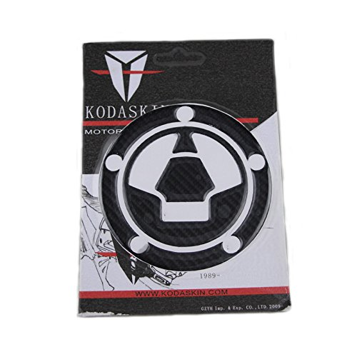 KODASKIN Motociclo Motocicletta Nero Carbonio Serbatoio Gas Tappo di riempimento Adesivi per la decalcomania per KAWASAKI Z750 Z800 Z1000 KODASKIN-EU