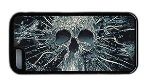 Hipster design for iphone 4/4s case skull art TPU Black for Apple for iphone 4/4s
