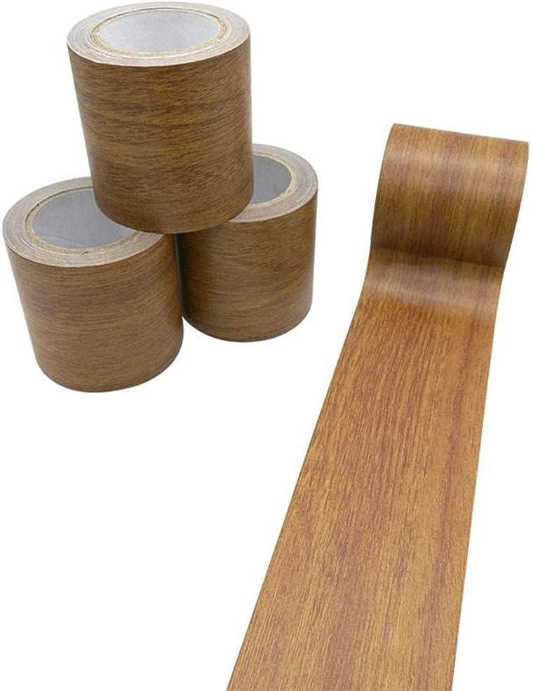 Creative ingenuity 1 Roll 15 Feet Simulation Wood Grain High-Adhesive Repair Tape for Desk/Chair/Furniture/Floor Beautification Decoration Tape (Brown Antique Oak)