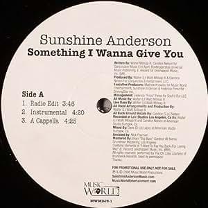 "Something I Wanna Give You - Sunshine Anderson 12"""
