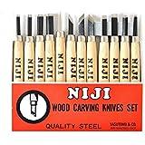 Niji Yasutomo Wood and Linoleum Cutting Set, Set of 12