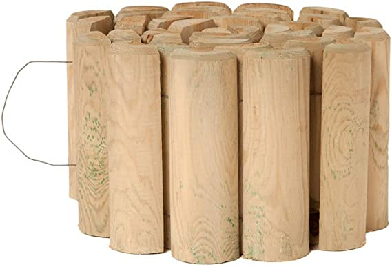 Catral 31010006 - Bordura flexible de madera tratada 40x250 cm. diam.7 cm.: Amazon.es: Jardín
