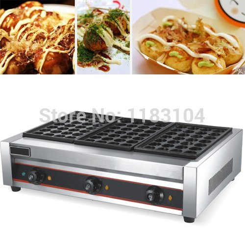 220v Electric Japanese Takoyaki Octopus Balls Maker Machine Baker Iron Mold by ANGELGARDEN
