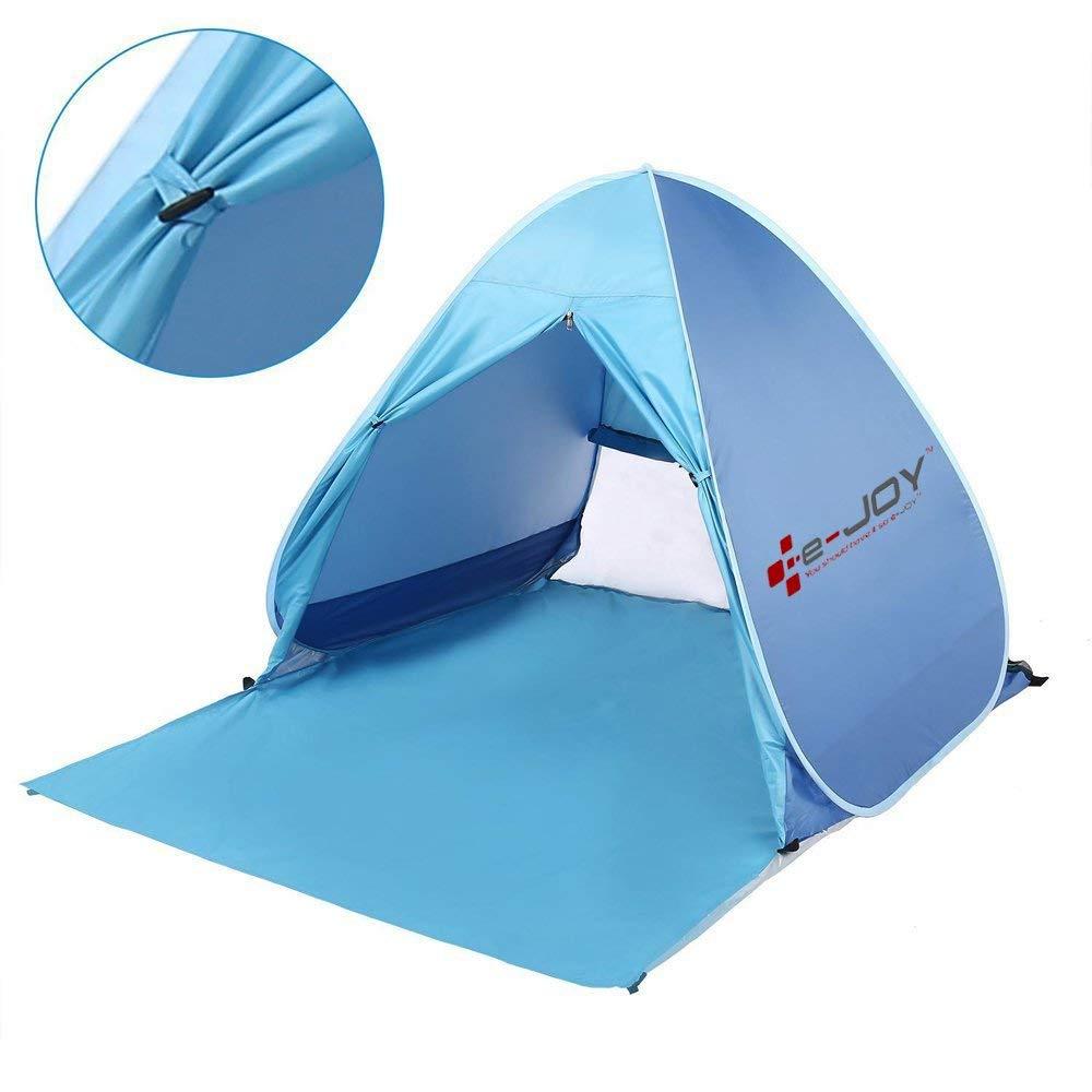 Sun Shelter Shade Easy Up Portable Anti UV Cabana Beach Blue Pop Up Beach Tent