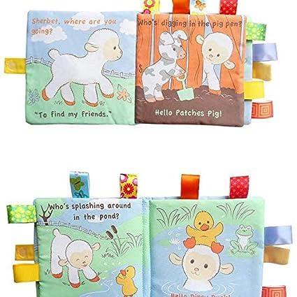 Lavable y Resistente a la Rotura Infantil Bebes Aprendizaje y Educativo de Juguete Oyfel Libro Blando de Beb/é B/úho 1 pieza