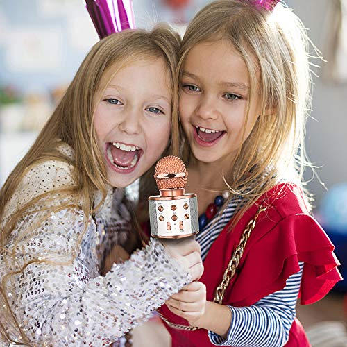 DEDY Awesome Toys for 5-12 Year Old Girls, Bluetooth Wireless Karaoke Microphone Birthday Fun Gifts for 5-12 Year Old Girls Boys Microphone Kids xiangbin DDMKF05 by DEDY (Image #4)