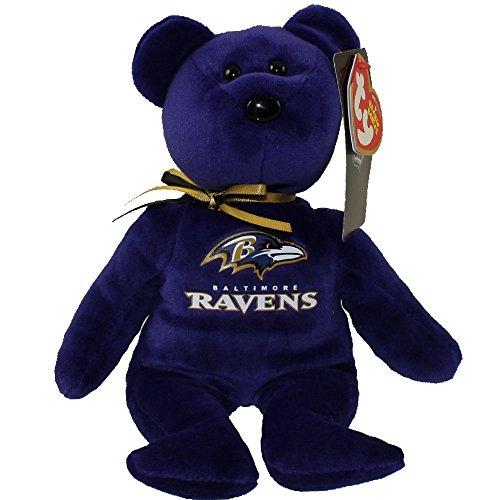(Ty Baltimore Ravens NFL Beanie Baby Teddy Bear Plush 8.5