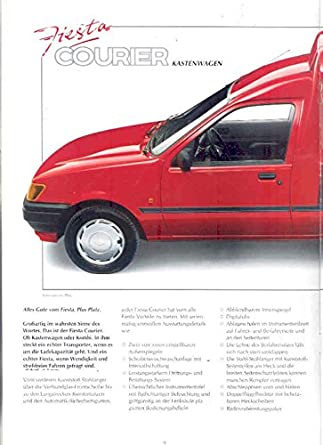 Amazon.com: 1992 Ford Germany Fiesta Courier Van Delivery Brochure: Entertainment Collectibles