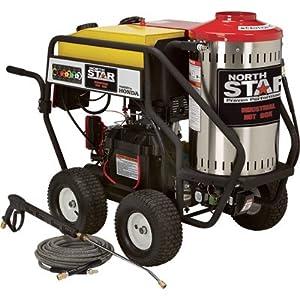 - NorthStar Gas Powered Wet Steam & Hot Water Pressure Washer - 3,000 PSI, 4.0 GPM, Honda Engine