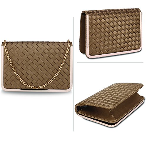 Stunning Flap FREE Nude UK Bag Evening Clutch DELIVERY Stunning Nude arqgTa